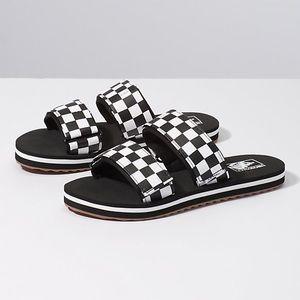 Vans Cayucas Checkerboard Slides